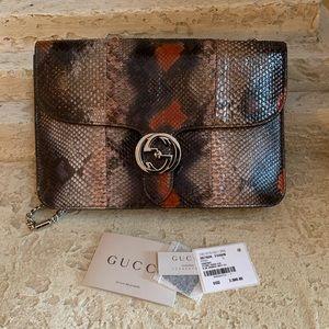 Gucci - gucci interlocking python shoulder bag